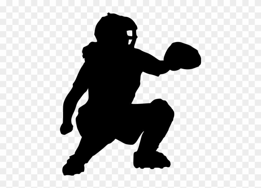 Softball Catcher Silhouette - Softball Pitcher Softball Catcher Silhouette #4329