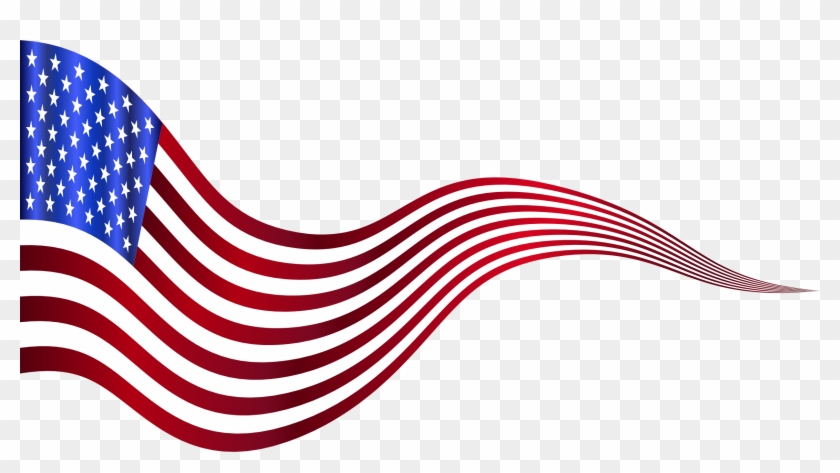 Usa Flag Banner 2 Variation 2 - Clip Art #4390