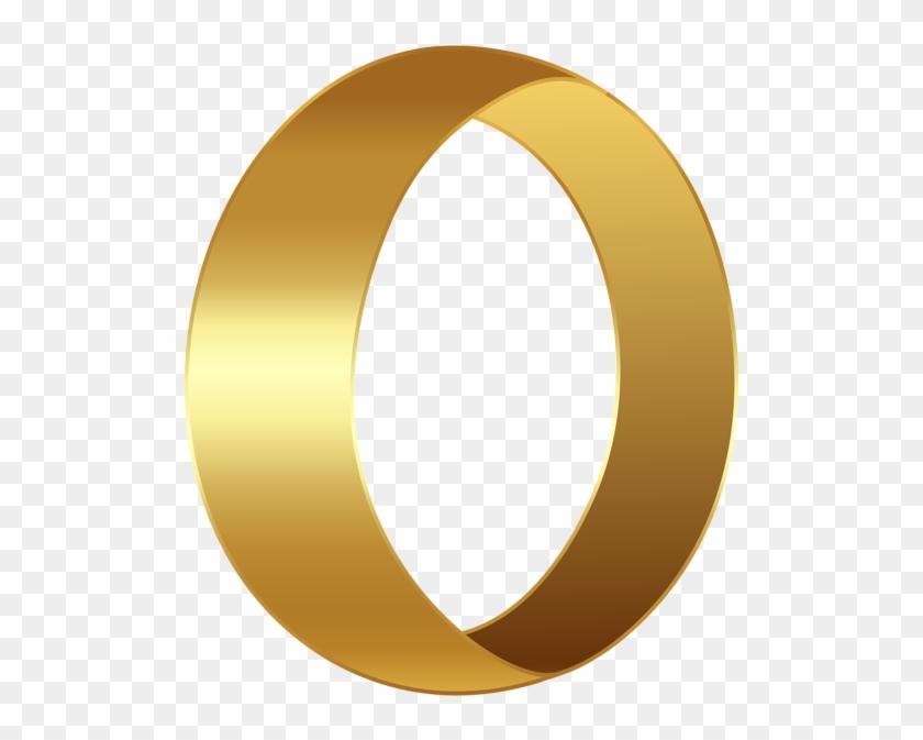 Golden Number Zero Transparent Png Clip Art Image - Number Zero Transparent #4450