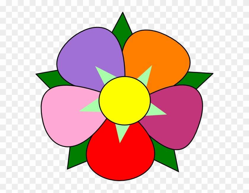Sunflower Petal Clip Art Vector - Single Flowers Images Clip Art #4452
