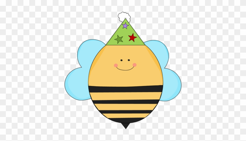 Birthday Bee In A Party Hat - Bee With Party Hat #4495
