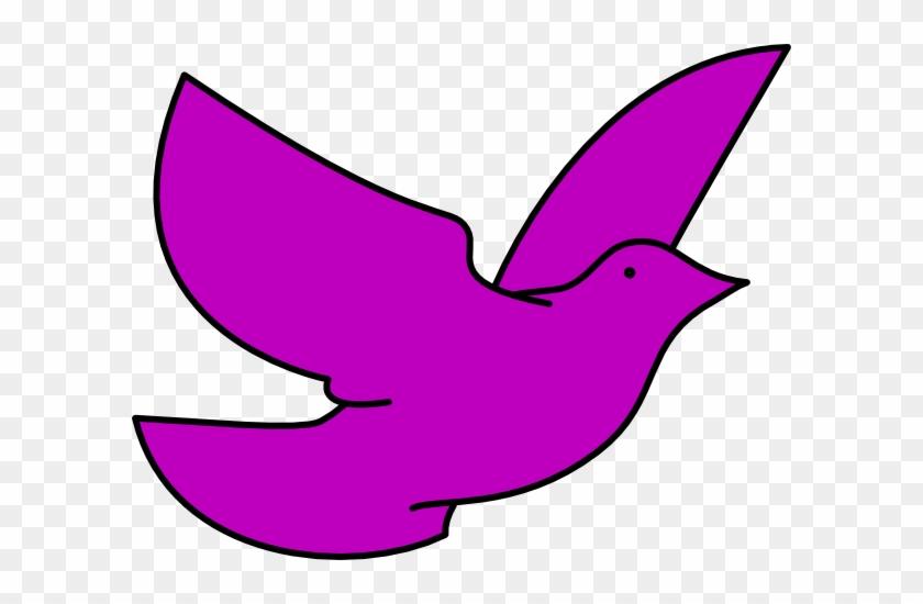Purple Dove Clip Art - Purple Dove Clip Art #4466