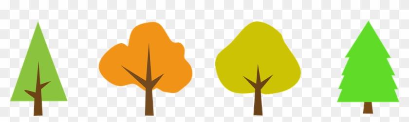 Tree, Wood, Clipart, Sticker - Tree Vector Simple #4408