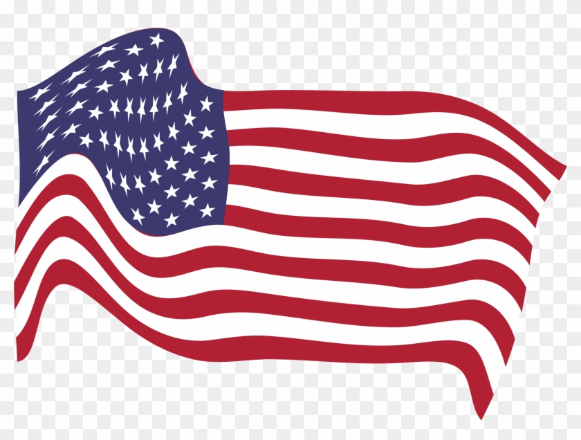 Clipart American Flag Breezy 8 - Transparent American Flag #4442