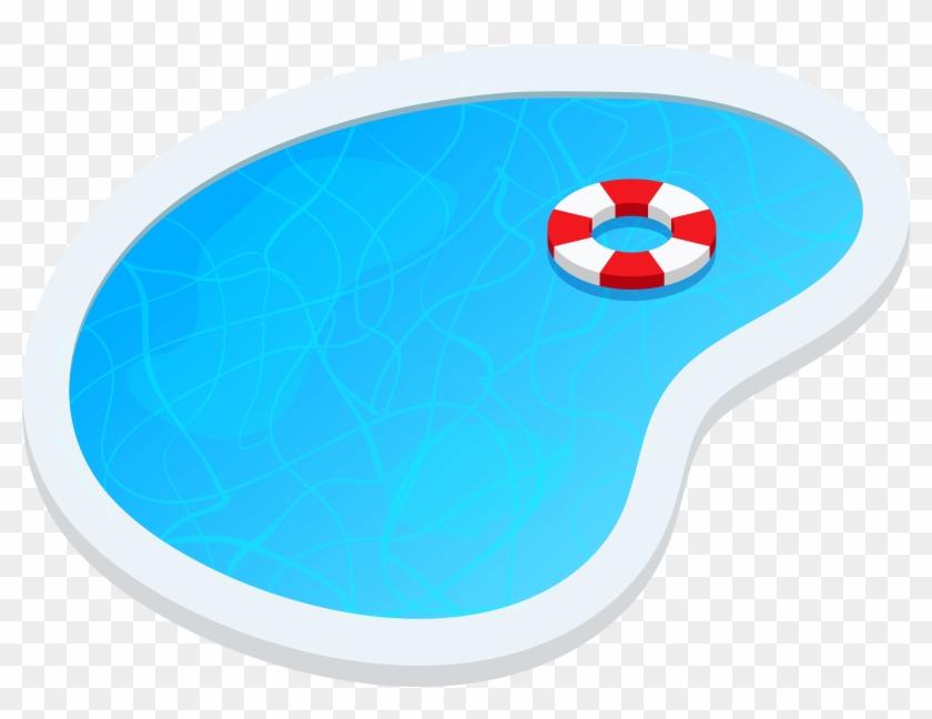 Swimming Pool Oval Png Clip Art - Clip Art #4564