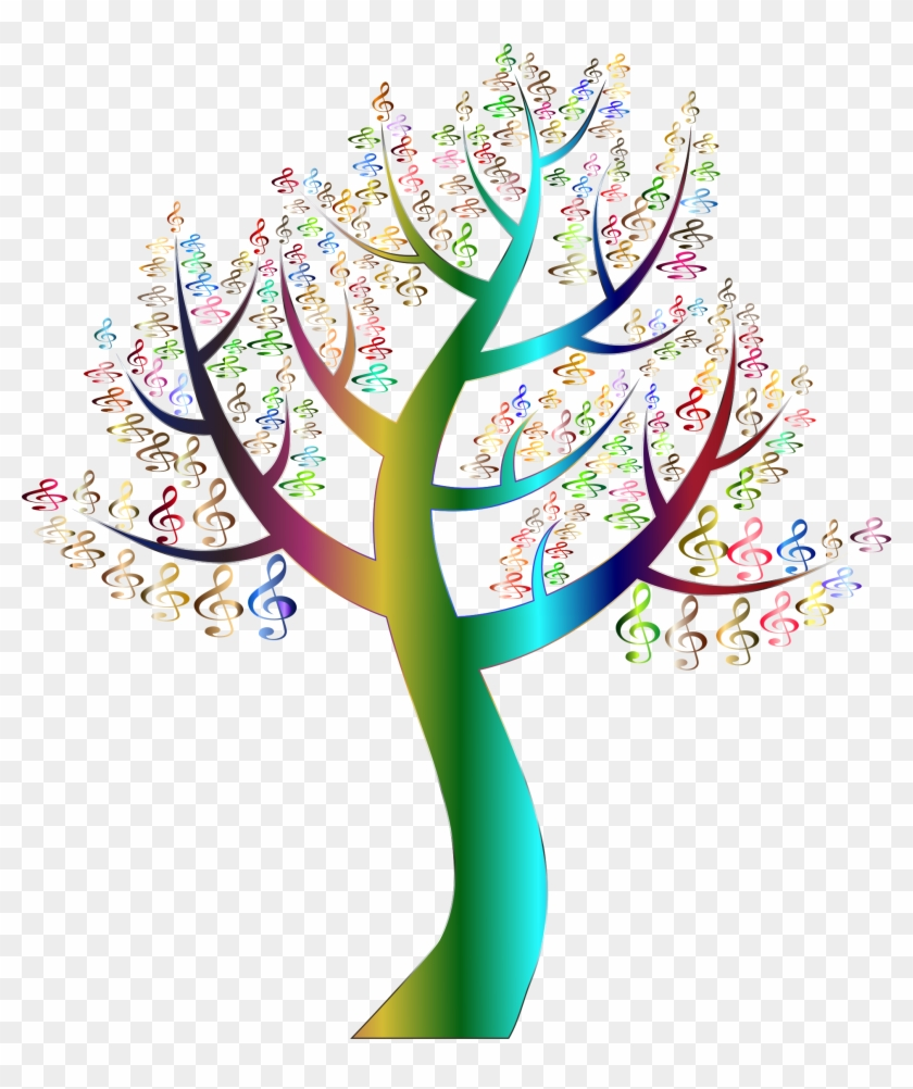 Simple Clef Tree Variation 2 No Background - Tree With Colorful Leaves #4485