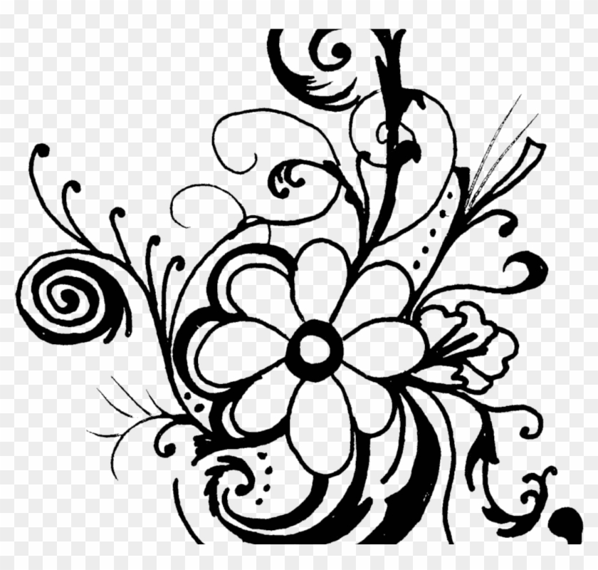 Clipart Of Flowers Black And White Unique Free - Black And White Flower Clipart #4460