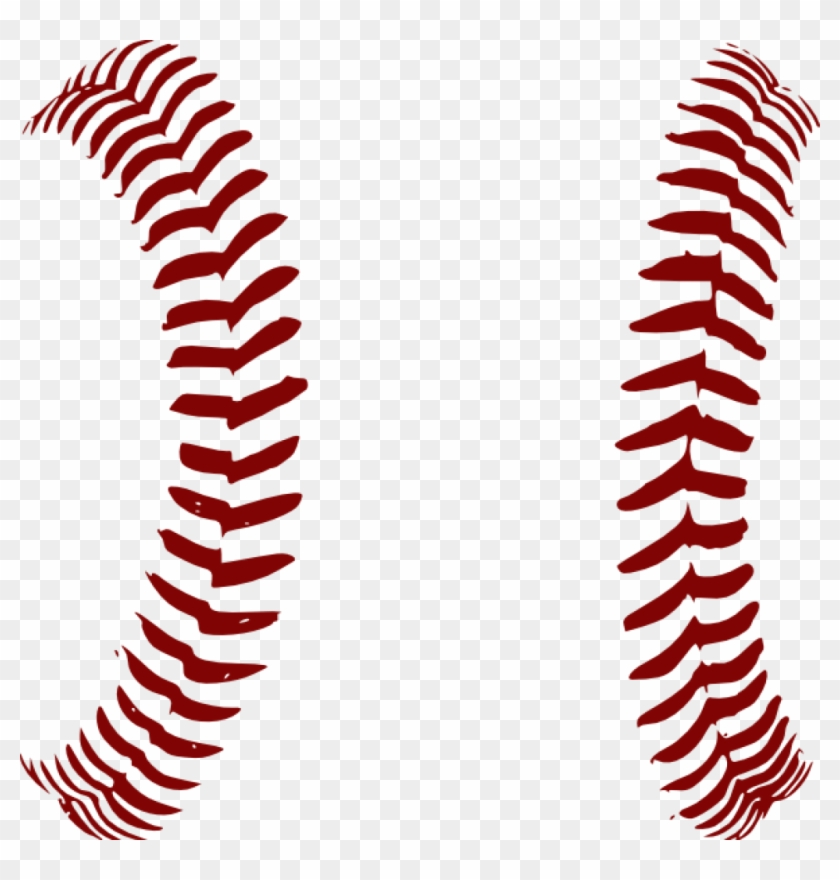 Football Laces Clipart Red Softball Laces Only Clip - Customize Baseball With Name Throw Blanket #4477
