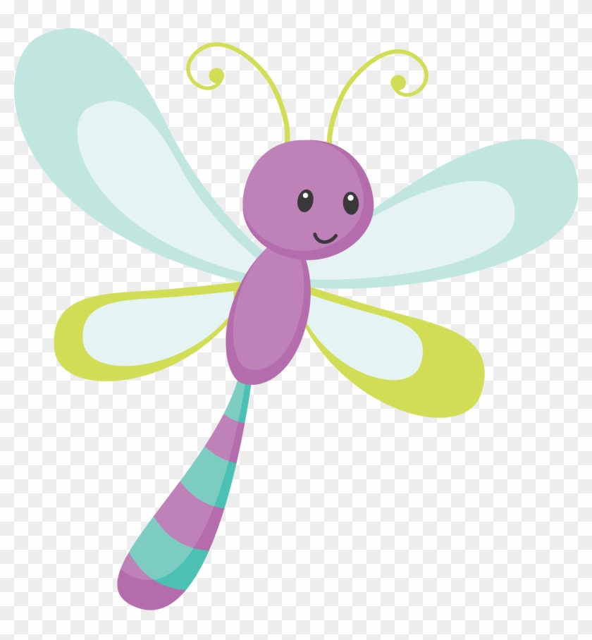 Say Hello - Cute Dragonfly Png #4541