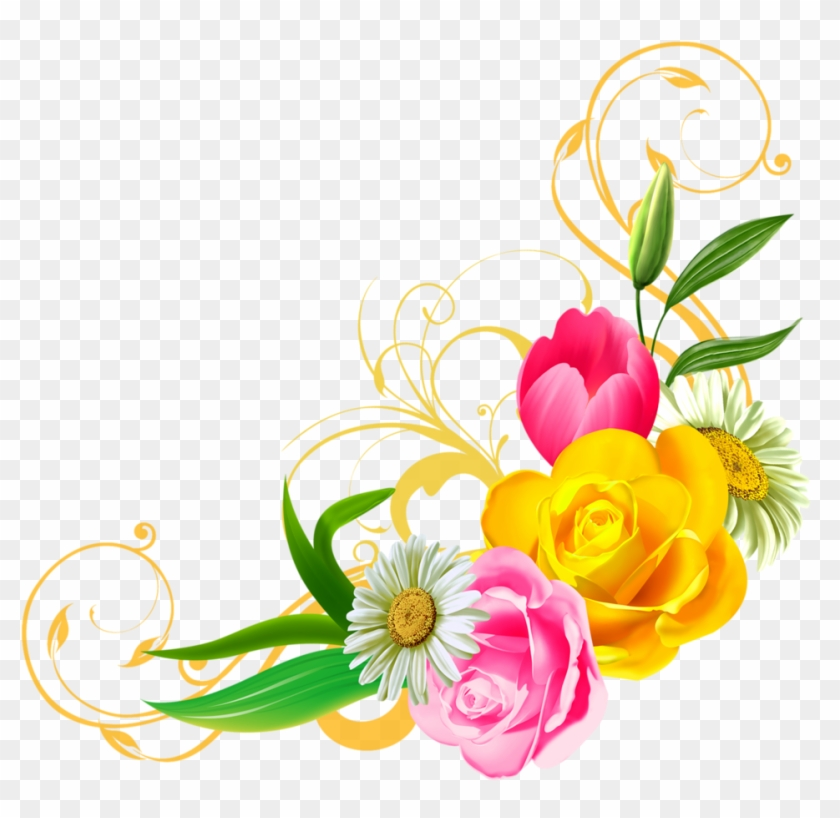 Png Clipart Floral Clipart Png Danielbentley Ideas - Flower Png #4523