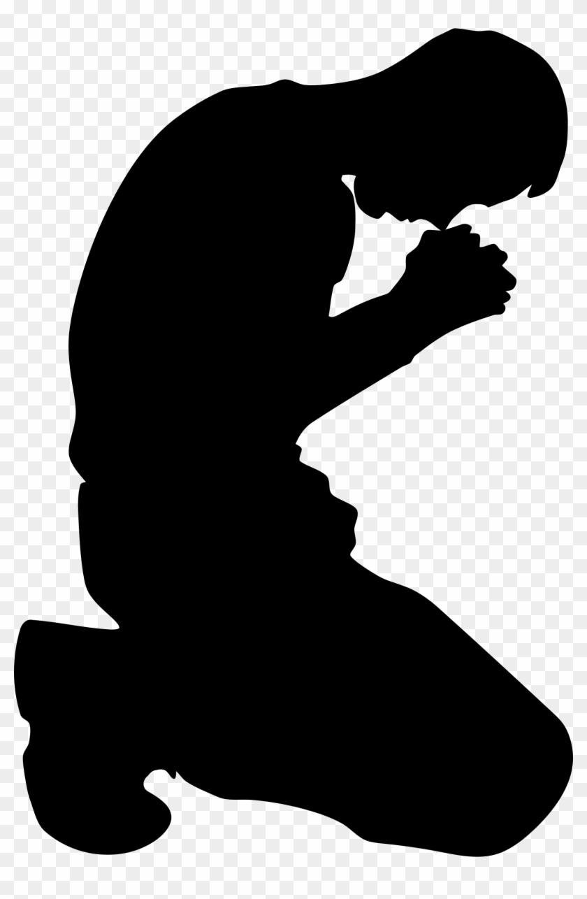 Png Kneeling Transparent Kneeling - Man Kneeling Silhouette #4482