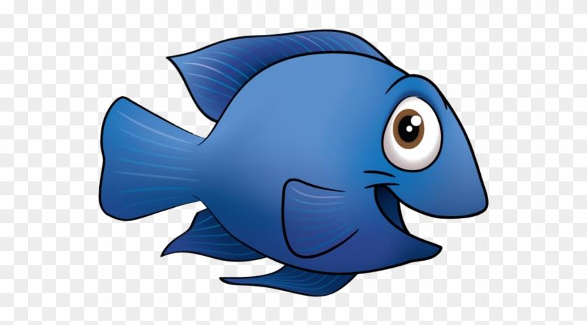 Blue Fish Clip Art - Blue Fish Clipart #4554