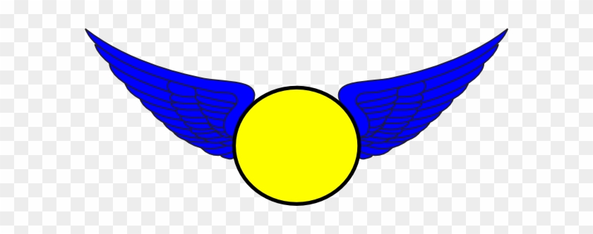Blue Eaglewings With Softball Clip Art - Eagle Blue And Yellow #4501