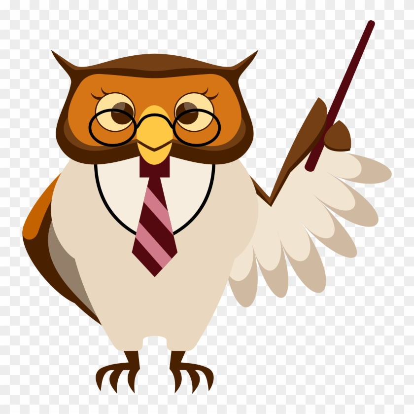 School Owl Clipart - Teacher Owl Clipart #4610