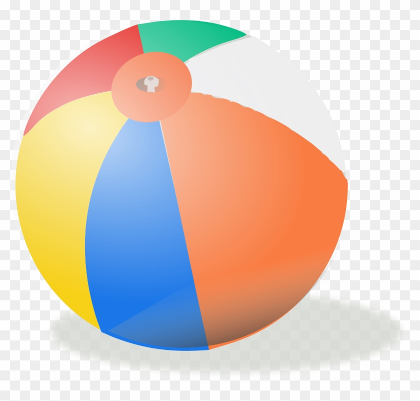 1 - Beach Ball Clip Art Transparent #4630