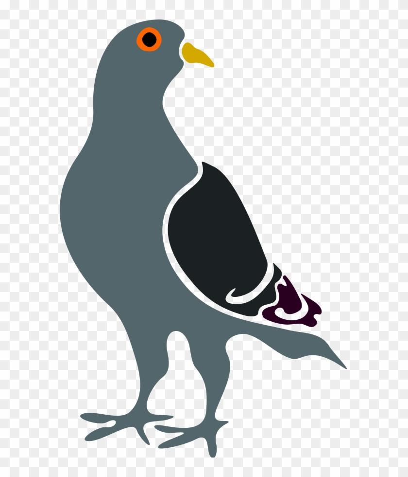 Clip Art - Pigeon Vector #4589