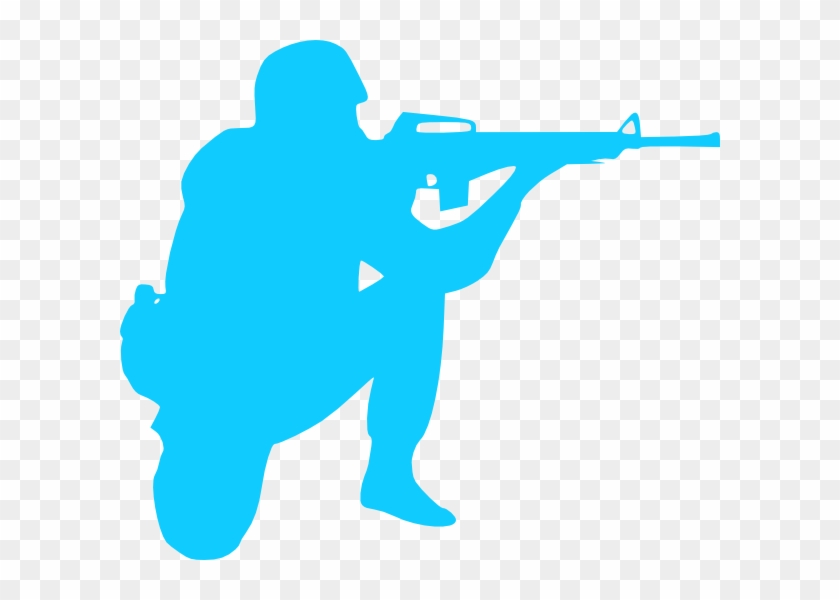 Blue Soldier Clip Art - Army Soldiers Silhouette #4600