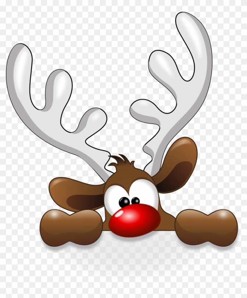 Funny Reindeer Christmaswinter Decor Amp Ideas Clip - Reindeer Head Clipart #4598