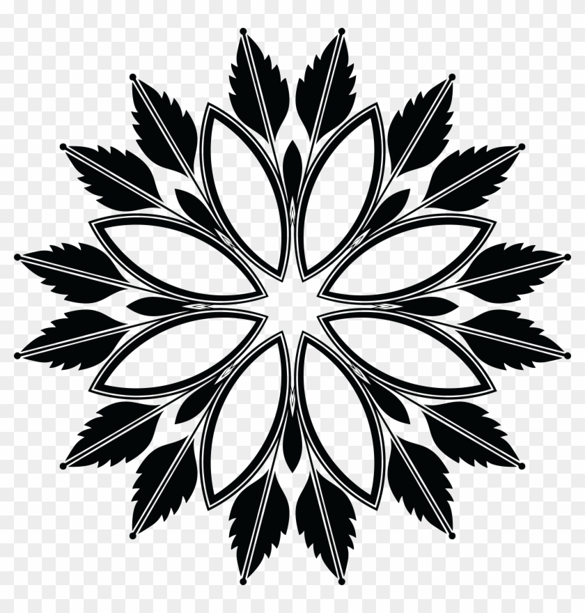 Free Clipart Of A Floral Design Element - Scalable Vector Graphics #4616