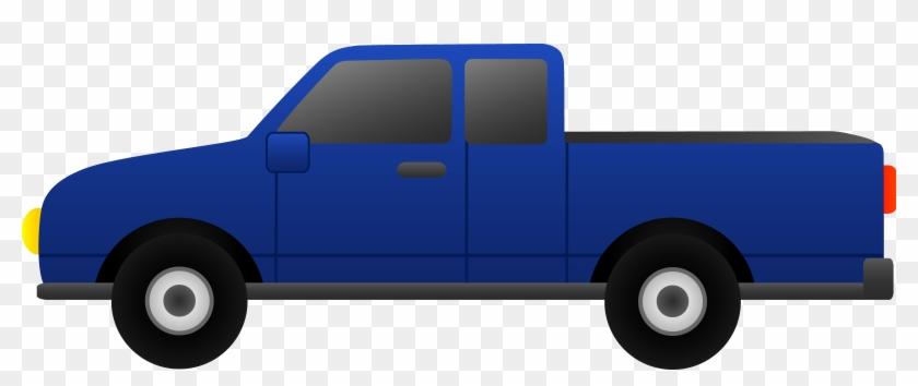 Truck Clipart - Blue Truck Clip Art #4606