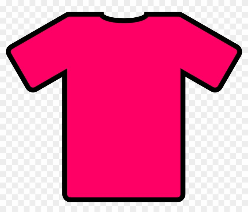 T-shirt Sports Clipart - Pink T Shirt Clip Art #4645
