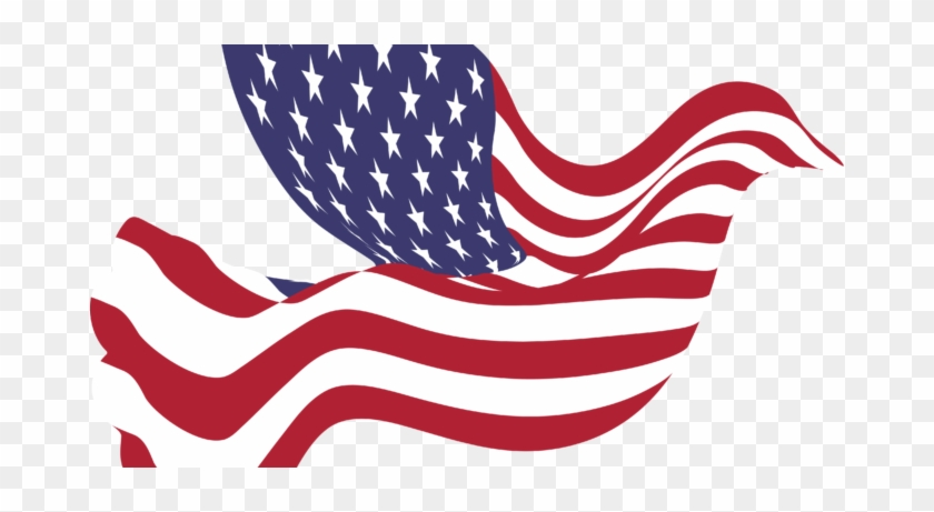 American Flag Clipart Pics - American Peace Dove Mugs #4635