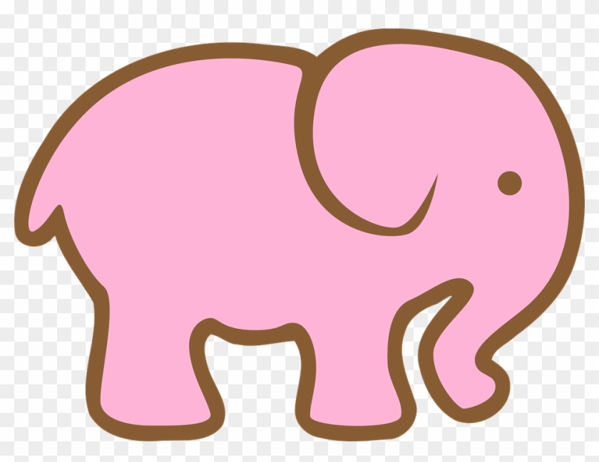 No Pienses En Un Elefante Rosa Ciara Molina Sewing - Pink Elephant Cut Out #4722