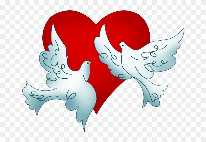 Columbidae Wedding Doves As Symbols Clip Art - Columbidae Wedding Doves As Symbols Clip Art #4664