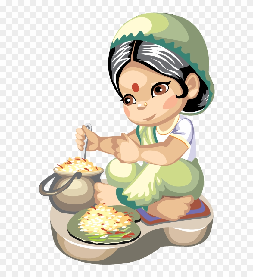 Indian Cuisine Cooking Recipe Clip Art - Cooking Clip Art #4661