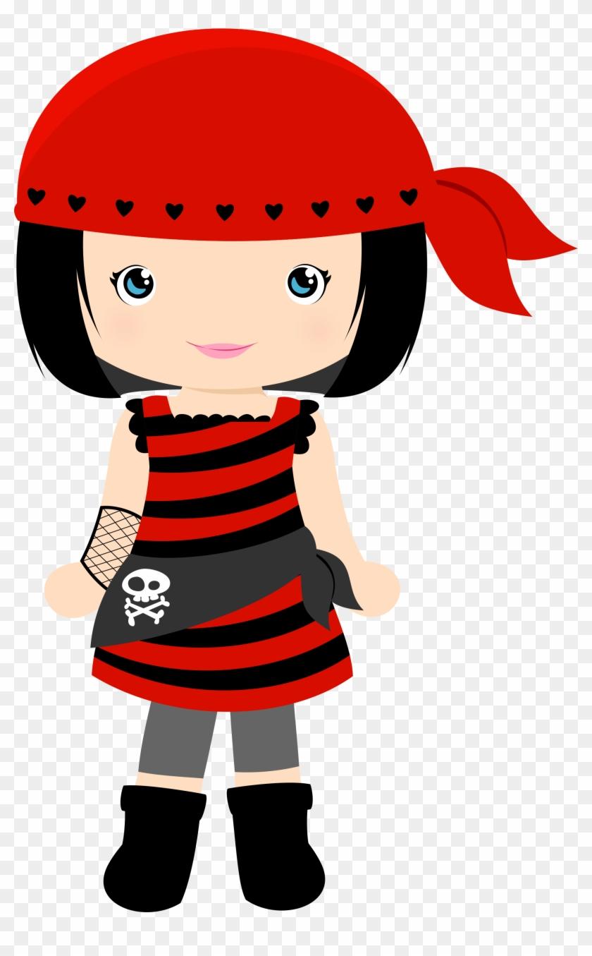 Little Pirate Girl Clipart #4652