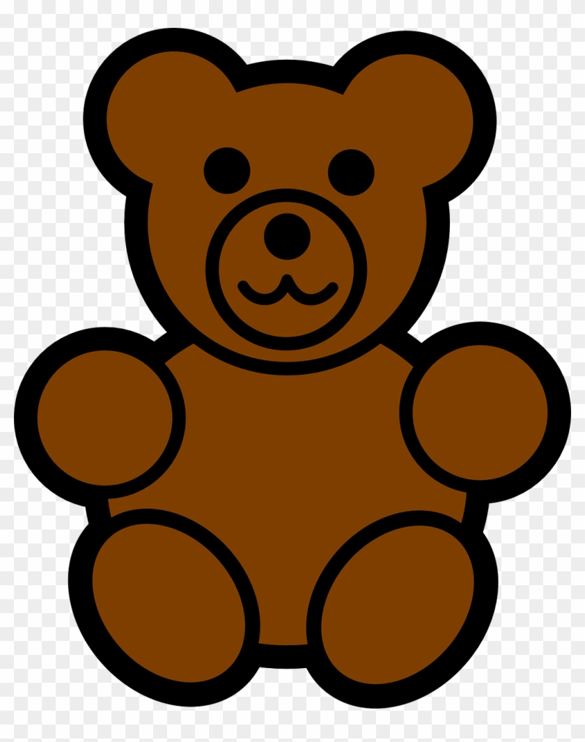 Bear Clip Art At Clker Gummy Bear Coloring Pages Free