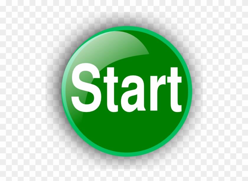 Green Start Button Clip Art Image - Push Button Start Gif #4698