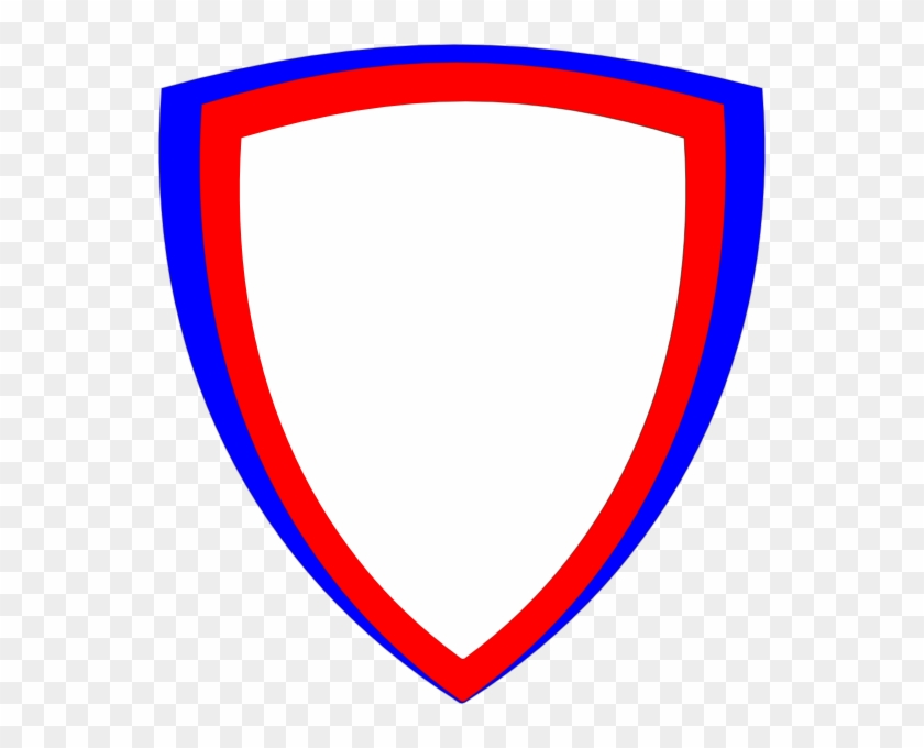 Superhero Shield Cliparts - Red And Blue Shield Png #4666
