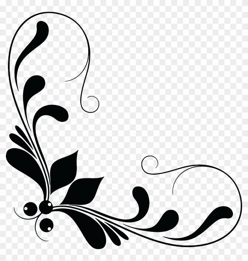 Free Clipart Of A Floral Design Element - Floral Design Element Png #4702