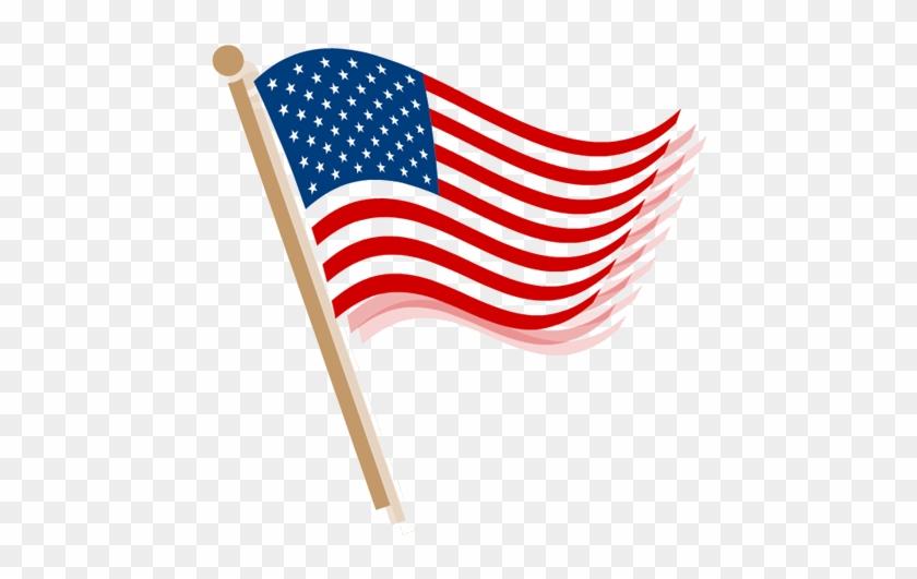 American Flag Clip Art Waving - American Flag Clip Art #4726