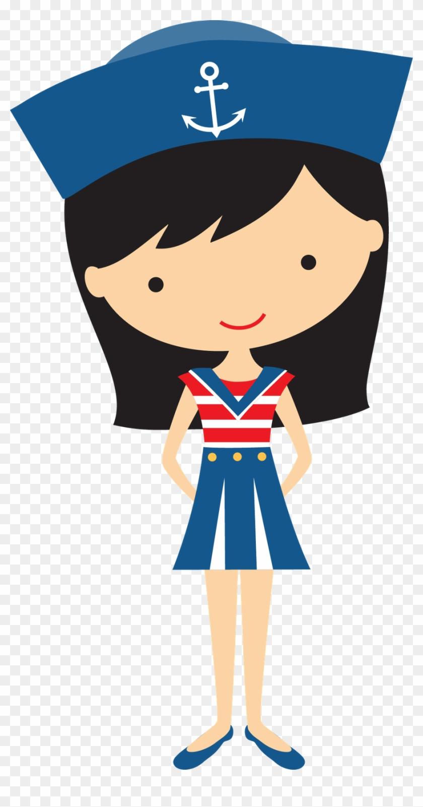 Black Haired Girl Sailor - Girl Sailor Clipart #4742