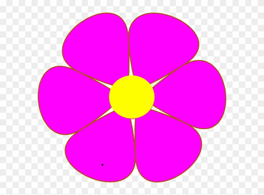 Clip Art Pink Flowers #4749