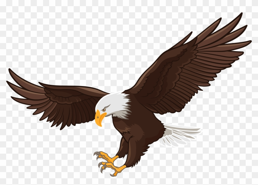 Eagle Png Clip Art - Crow And The Eagle #4771
