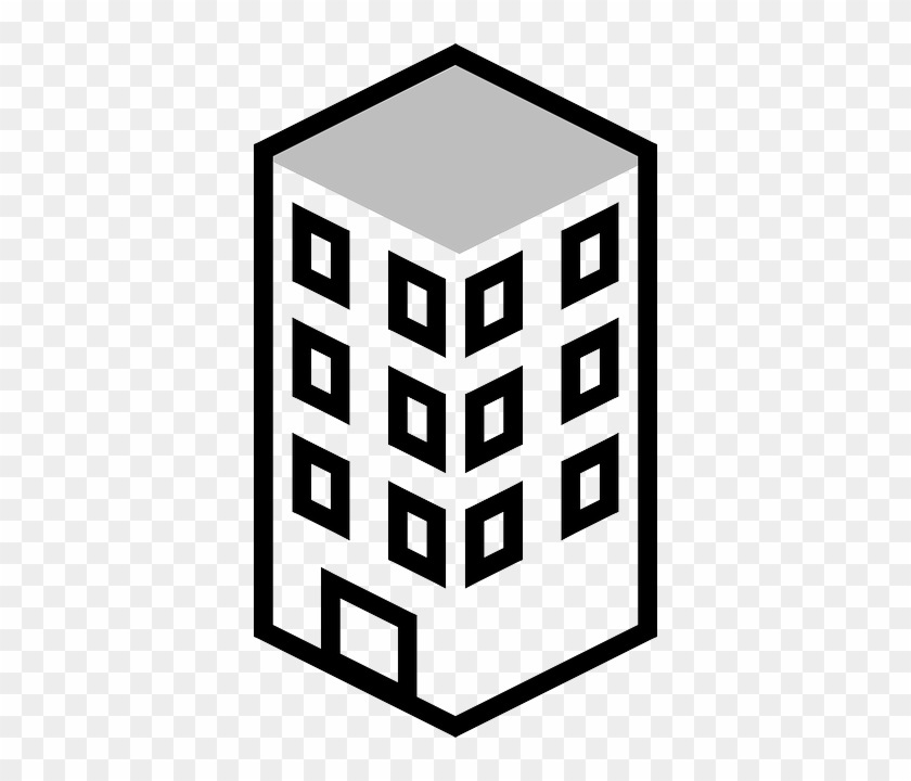 Building Clipart Black And White #4696