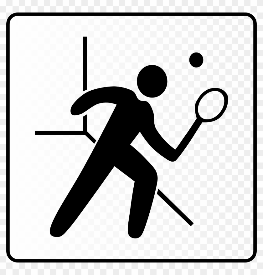 Fish Bones Clipart - Squash Court Icon #4737