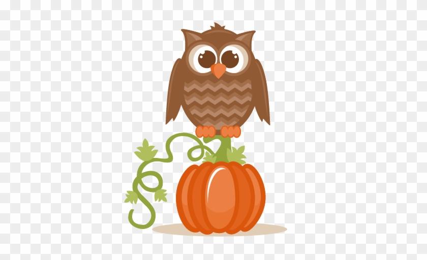 Fall Owl Svg Scrapbook Cut File Cute Clipart Files - Fall Owl Clip Art #4793
