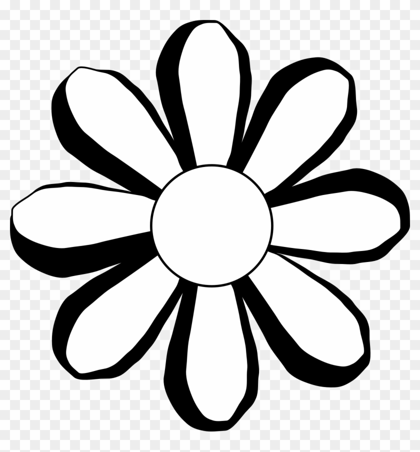 Flowers Black Flower Black White Art Coloring Book - Flower Pic Black And White #4738