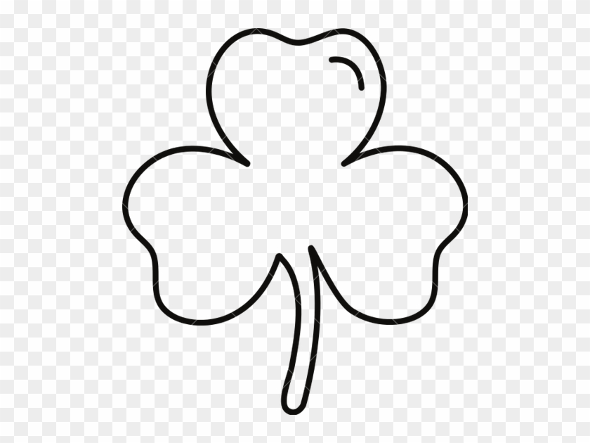 Shamrock Leaf Outline Icons By Canva Clipart - Shamrock Outline Png #4739