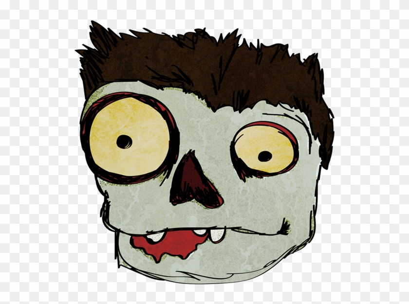 Cartoon Zombie Face Png #4824
