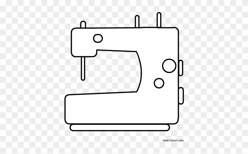 Black And White Sewing Machine Free Clip Art - Sewing Machine #4746