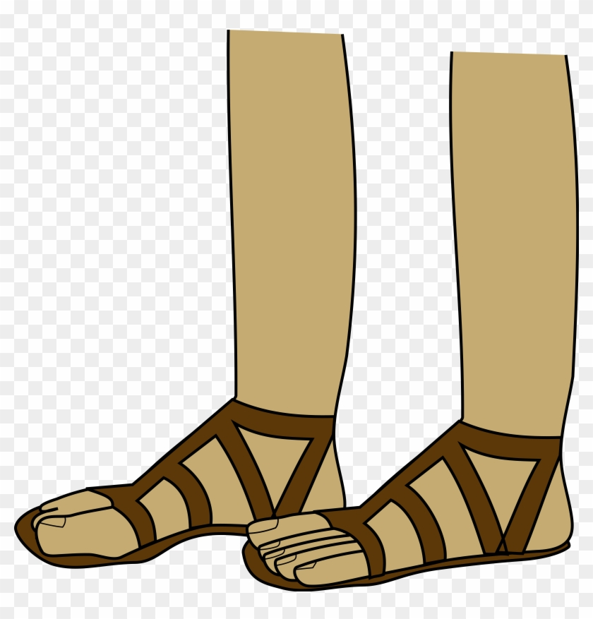 Baby Bootie Clipart - Feet In Sandals Clipart #4839