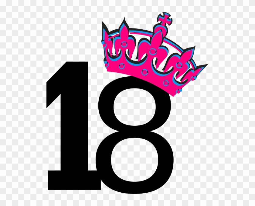 Pink Tilted Tiara And Number 7 Clip Art - 13 Clipart #4795