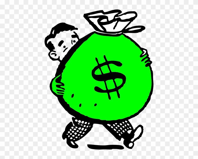 Money Bag Clip Art - Money Bag Clipart #4813