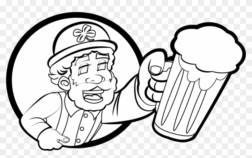 Free Clip Art - Animated Black And White St Patrick's Day #4812