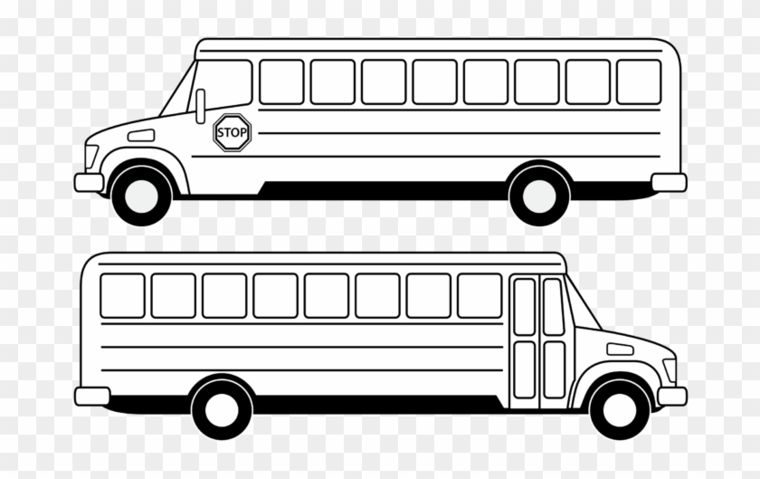 School Bus Clip Art Download Free - School Bus Clipart Black And White #4838
